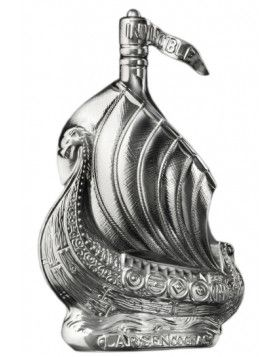 Larsen Viking Ship Silvery Sculpture