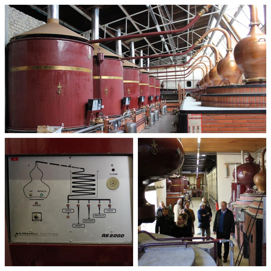 Cognac Pot Stills at De Luze