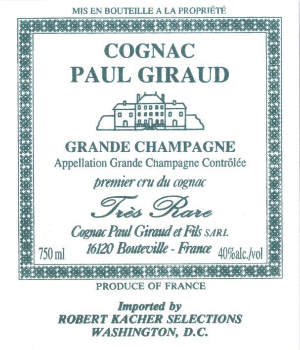 Cognac Label Paul Giraud