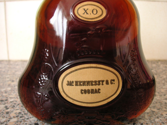Hennessy XO old bottle