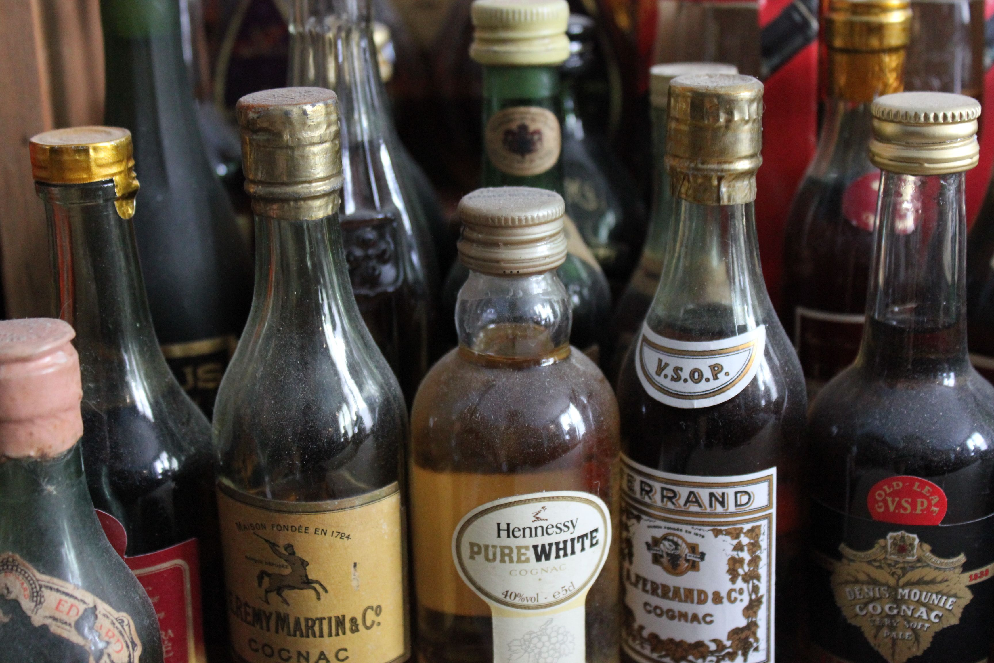 Different Cognac Mini Bottles