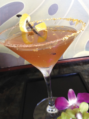 Cocktail with Champagne, Cognac, Grand Marnier