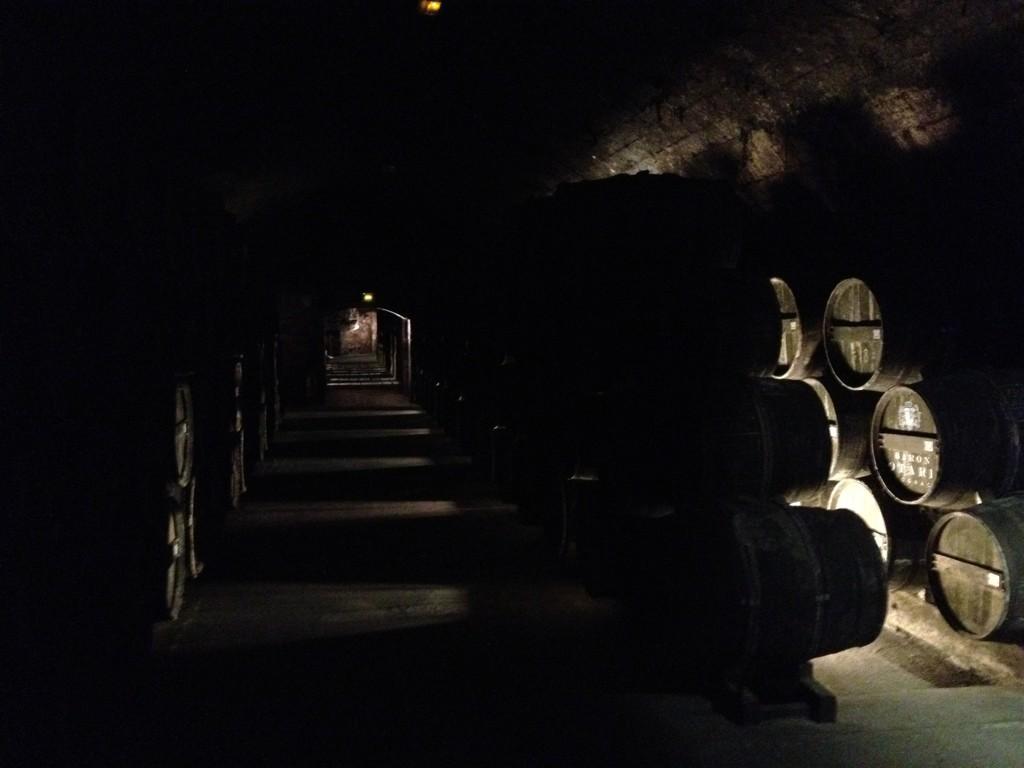 Cellar of Chateau de Cognac