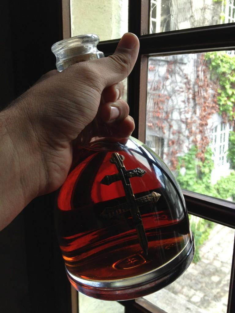 D'Ussé cognac in Max' hand when we visited the Chateau