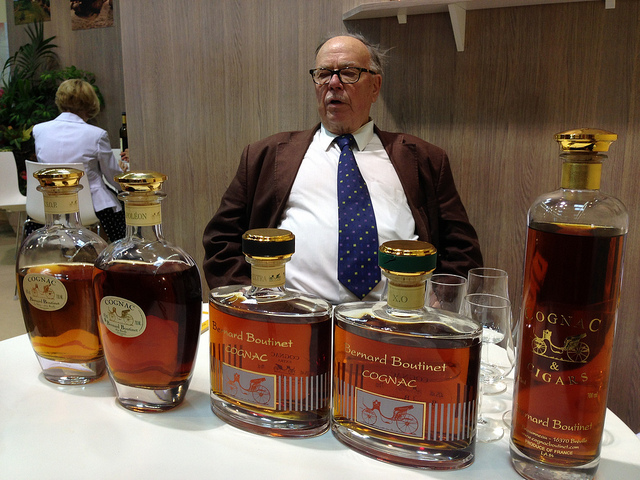 Legendary: Bernard Boutinet in front of his Cognac range.