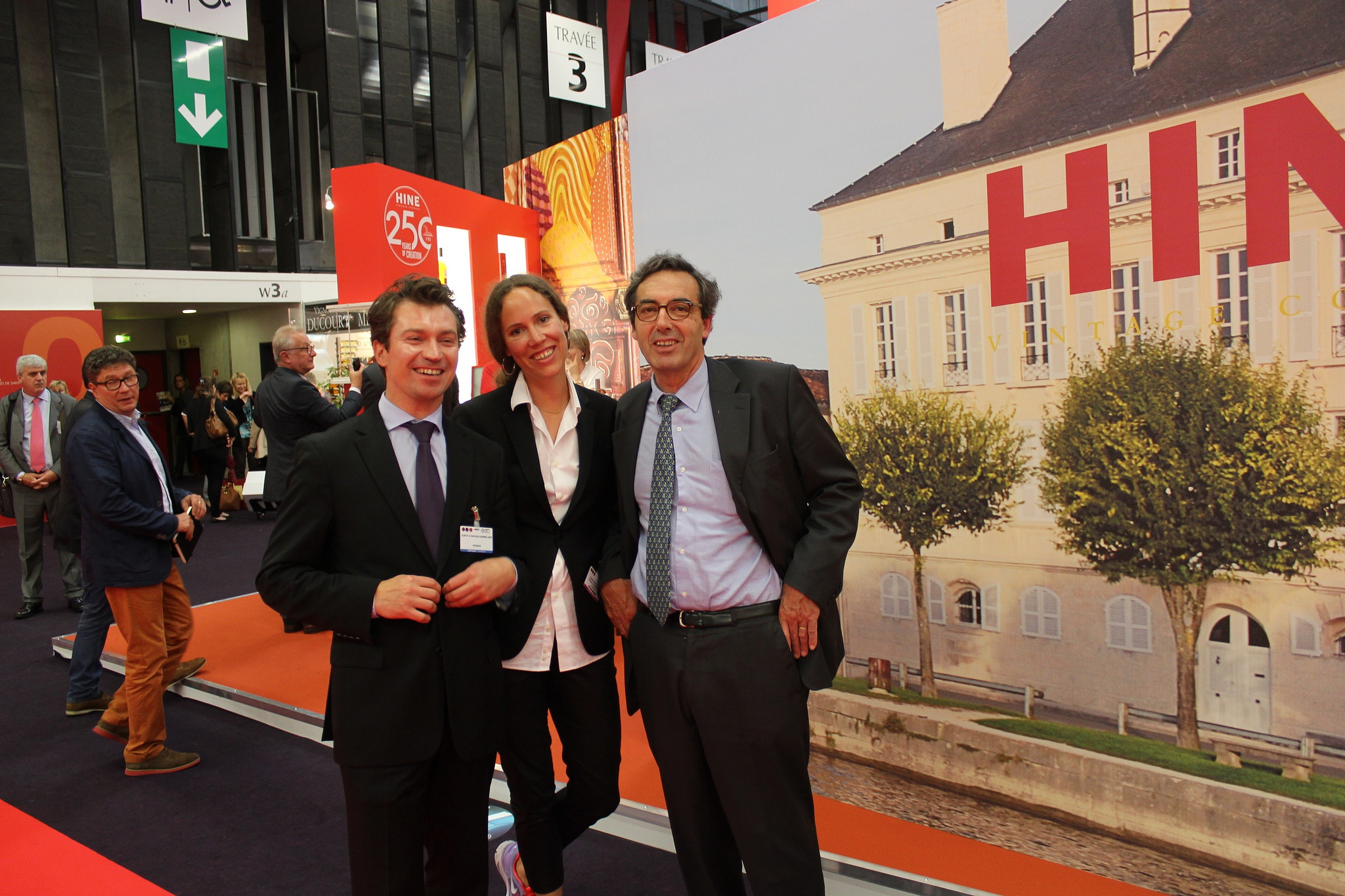 Sophie between Herve Bache-Gabrielsen and Francois Le Grelle from HINE