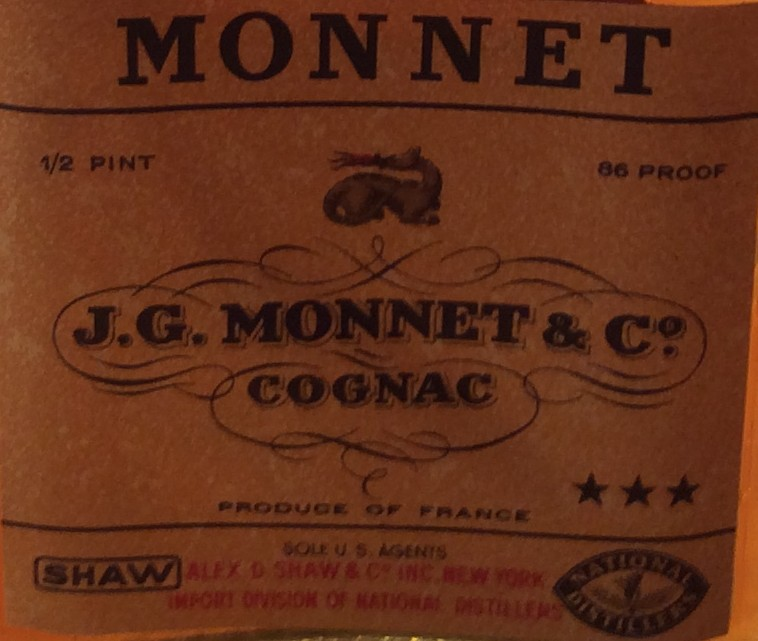 1930s Monnet 3 Stars Cognac Mini Bottles