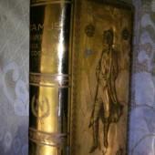 22 k Golden Porcelain Book: It's a Camus Cognac Napoleon Decanter